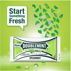DoubleMint Sugar Free Thinmints Spearmint Flavour 3.8 g (Pack Of 20) Wholesale Pack