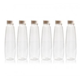 Pearl Pet Multi-Use Bottles Transparent White Pack Of 6