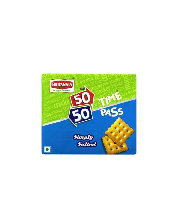 Britannia 50-50 Time Pass Classic Salted Biscuits 150 gm
