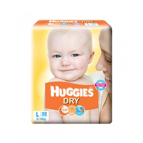 Huggies Dry Taped Diapers 8 to 14 Kg Large 52 Pieces