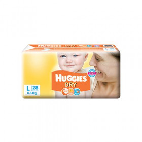 Huggies New Dry Taped Diapers Large 28 Pieces