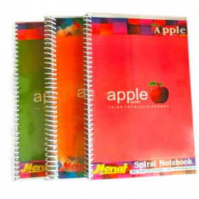 Apple A4 Spiral Notebook Softbound Cover Unruled 500 Pages