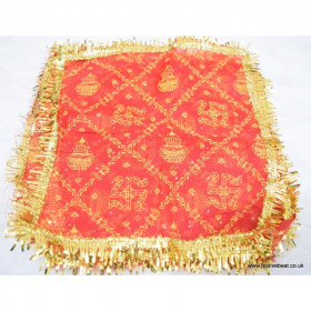 Mata Ki Chunri / Chunni /  Regular Size Red Color 2pcs
