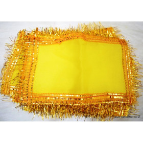 Mata Ki Chunri / Chunni /  Regular Size Yellow Color 2pcs