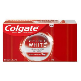 Colgate Visible White Toothpaste Sparkling Mint Saver Pack 200 g