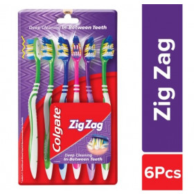 Colgate Toothbrush ZigZag Soft 6 Pc