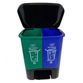 Plastic Pedal Dustbin / Garbage Bin For Wet & Dry Waste Assorted Colour 25 L