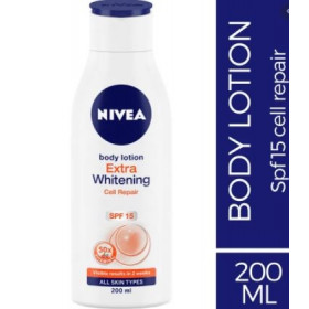 Nivea Body Lotion Extra Whitening Cell Repair SPF 15 For All Skin Types 200 ml