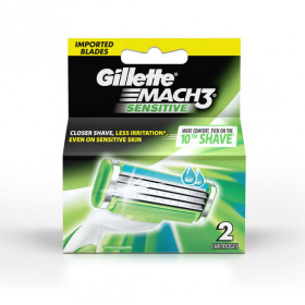 Gillette Mach3 Sensitive 2 Cartridges Razor