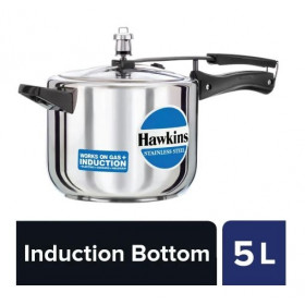 Hawkins Stainless Steel Pressure Cooker Induction Based HSS50 5 L