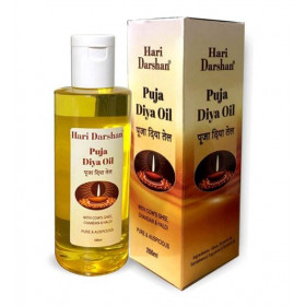 Hari Darshan Puja Diya Oil With Cow Ghee, Chandan & Haldi 200 ml