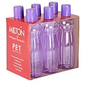 Milton Pacific 500 ml Capicity Water Bottle Pack Of 6 Pcs Multicolor