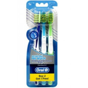Oral B Toothbrush Anti Bacterial Bristle (Buy 2 Get 1 Free)