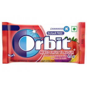 Orbit Mixed Fruit Flavoured Sugar Free Chewing Gum 8.8 g (Pack Of 6) Multi Pack