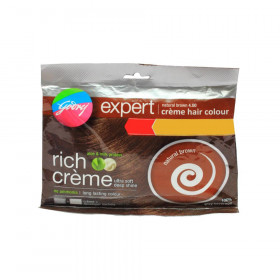 Godrej Expert Creme Hair Colour Natural Brown 4.00 20gm