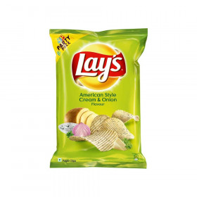 Lays Potato Chips American Style Cream & Onion Flavour 52 gm