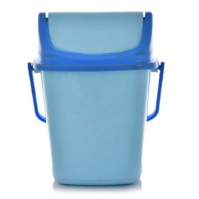 Plastic Swing Dustbin / Garbage Waste Dustbin for Home Office with Handle 5 Ltr Multicolors