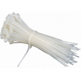 Nylon Zip Wire 4 Inch White / Cable Ties Lock / Tie Seal Pack Of 100