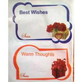 Best Wishesh Complimentary Gift Stickers