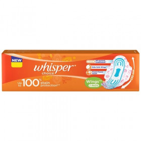 Whisper Choice Wings Regular Sanitary Pads 7 pcs
