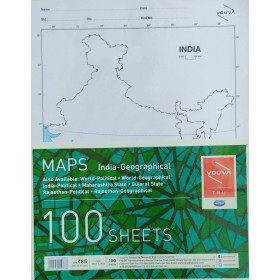 Youva Navneet Maps India Geographical 100 Sheets