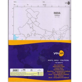 Youva Navneet Maps India Political 100 Sheets