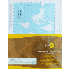 Youva Navneet Maps World Geographical 100 Sheets
